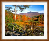 Autumn landscape of Mount Chocorua, New England, New Hampshire Fine Art Print