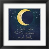 I Love You To The Moon 1 Fine Art Print