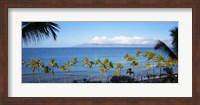 Palm Trees on the Beach, Maui, Hawaii Fine Art Print