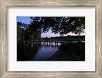 Sunset Over Golf Course in Sarasota, Florida Fine Art Print