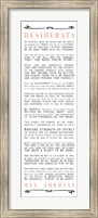 Desiderata Bus Roll Black and Peach Text Fine Art Print
