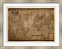 Map of the World, c.1500's (antique style) Fine Art Print