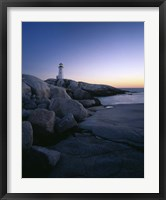 Peggys Cove Lighthouse at Night, Nova Scotia, Canada Fine Art Print