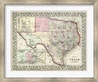 Johnson's Map of Texas Fine Art Print