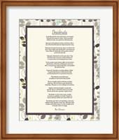 Desiderata Leaf Pattern Frame Light Fine Art Print