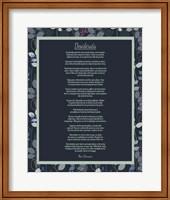 Desiderata Leaf Pattern Frame Dark Fine Art Print