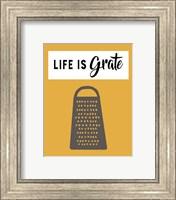 Retro Kitchen I - Life Is Grate Fine Art Print