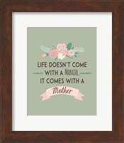 Life Doesn't Come With A Manual Green Fine Art Print