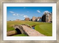 Golfing the Swilcan Bridge on the 18th Hole, St Andrews Golf Course, Scotland Fine Art Print