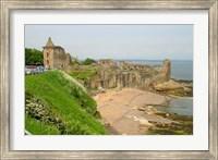 Coastline Beach and Ruins of St Andrews, Scotland Fine Art Print