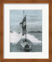 World War I (1914-1918). The British submarine E-8. Sank a German destroyer in the North Sea Fine Art Print