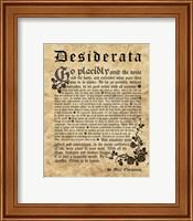 Old English Desiderata Fine Art Print