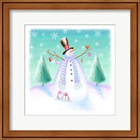 Holiday Snowman Fine Art Print
