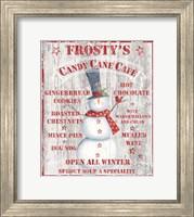 Frosty's Candy Cane Cafe Fine Art Print