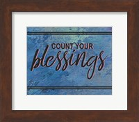 Count Your Blessing-Blue Fine Art Print