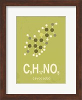 Molecule Avocado Green Fine Art Print