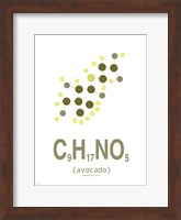 Molecule Avocado Clean Fine Art Print