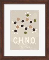 Molecule Coffee with Sugar Fine Art Print