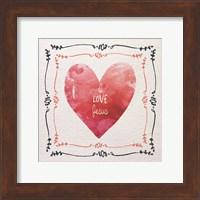 Watercolor Heart I Love Jesus Fine Art Print