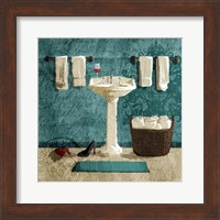 Teal Drink And Heals Fine Art Print