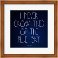 Blue Sky - Stephen King Quote Fine Art Print