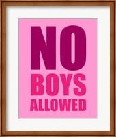 No Boys Allowed - Pink Fine Art Print