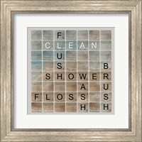 Bathroom Letters II Fine Art Print