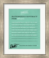 Bathroom Contract Fine Art Print