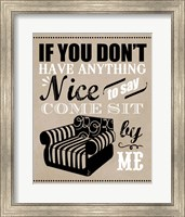 Come Sit by Me Fine Art Print
