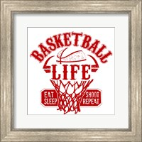 Basketball Life Red Fine Art Print
