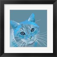 Cat in Blue Fine Art Print