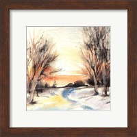 Winter Walkway Fine Art Print
