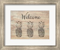 Welcome on Wood Fine Art Print