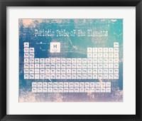 Periodic Table Blue Grunge Background Fine Art Print