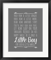 Hold Him A Little Longer - Gray Fine Art Print