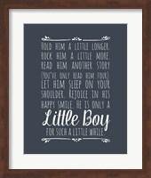 Hold Him A Little Longer - Blue Fine Art Print