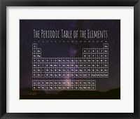 The Periodic Table Of The Elements Night Sky Purple Fine Art Print