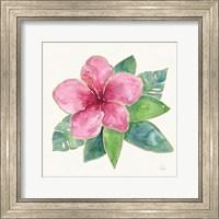 Tropical Fun Flowers III with Gold Fine Art Print