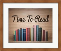 Time To Read - Wood Background Color Fine Art Print