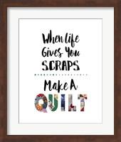 When Life Gives You Scraps - White Fine Art Print
