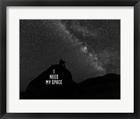I Need My Space - Black and White Fine Art Print