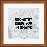 Geometry Keeps You In Shape Light Pattern Fine Art Print