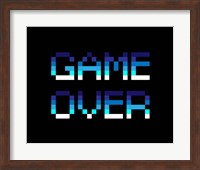 Game Over  - Blue Fine Art Print