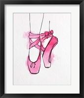 Ballet Shoes En Pointe Pink Watercolor Part III Fine Art Print