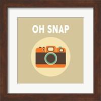 OH SNAP Camera Beige Fine Art Print