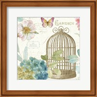 Rainbow Seeds Floral Birdcage III v2 Fine Art Print