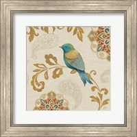 Bird Rainbow Blue and Yellow Fine Art Print