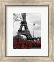 Eiffel Tower with Red Pop Fine Art Print