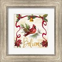Christmas Poinsettia Ribbon I Fine Art Print