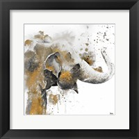 Water Elephant with Gold Fine Art Print